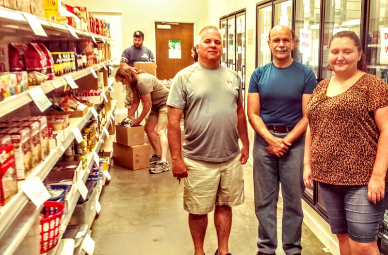 Voluntering at the Food Bank