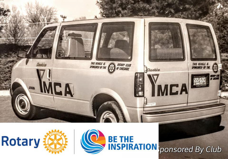 Days Gone By, but a great History of Good Deeds, Fun and Laughter. YMCA Van sponsored by the Cheshire Club.